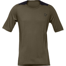 Norrøna Skibotn Wool Equaliser T-Shirt Men Dark Olive